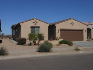Front View, Desert Landscaping, Mission Royale,