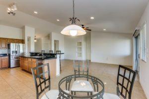 Dining Area, Kitchen, Living room,Tile Flooring, Recessed lighting,