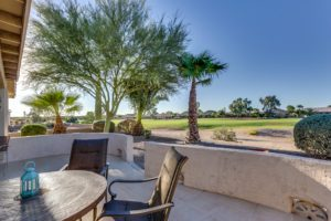 Back Patio, Golf Course Views, Partial Block Wall, Sunshine,