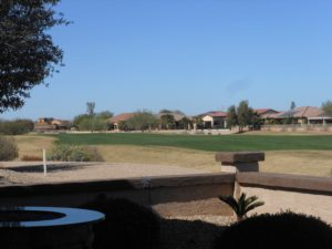 Views of the 17th fairway of the Golf Course, South Facing Patio, partial block wall