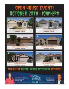 Open House Event Flyer, Mission Royale, 6 homes