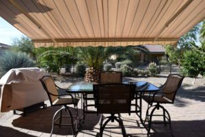 Furnished, Back Patio, Remote awning, pull down shade, fruit trees, BBQ grill, on the Wash