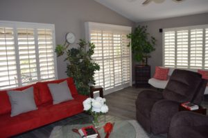 Living Room, Beautiful Furniture, Plantation Shutters