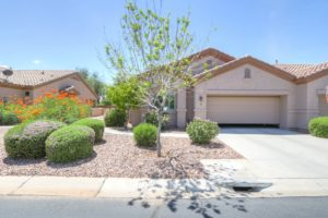 Front View, Desert Landscape, Ironwood Village, Active Adult, Gated Community