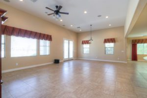 Open Floor Plan, Living Room, Ceiling Fan, Recessed Lighting, Surround Sound,
