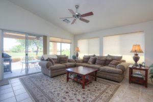 Living Room, Ceiling Fan, Natural lighting