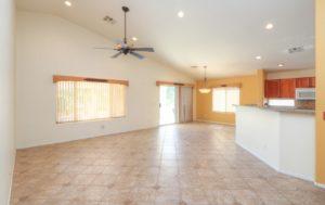 Tile Flooring, Custom Paint, Recessed Lighting, Ceiling Fan