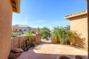 Front Courtyard, Water Feature, Privacy gate