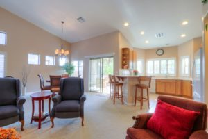 Kitchen & Dining Room View, recessed lighting, natural light