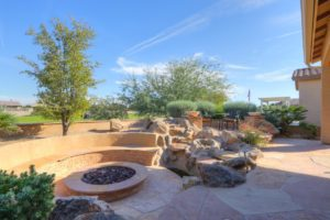 Backyard, Golf Course Views, Firepit
