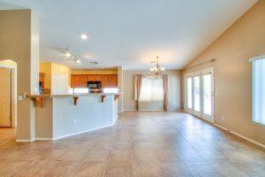 tile flooring, ceiling fans, natural lighting