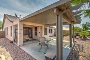 Extended patio, pergola, beautiful desert landscape
